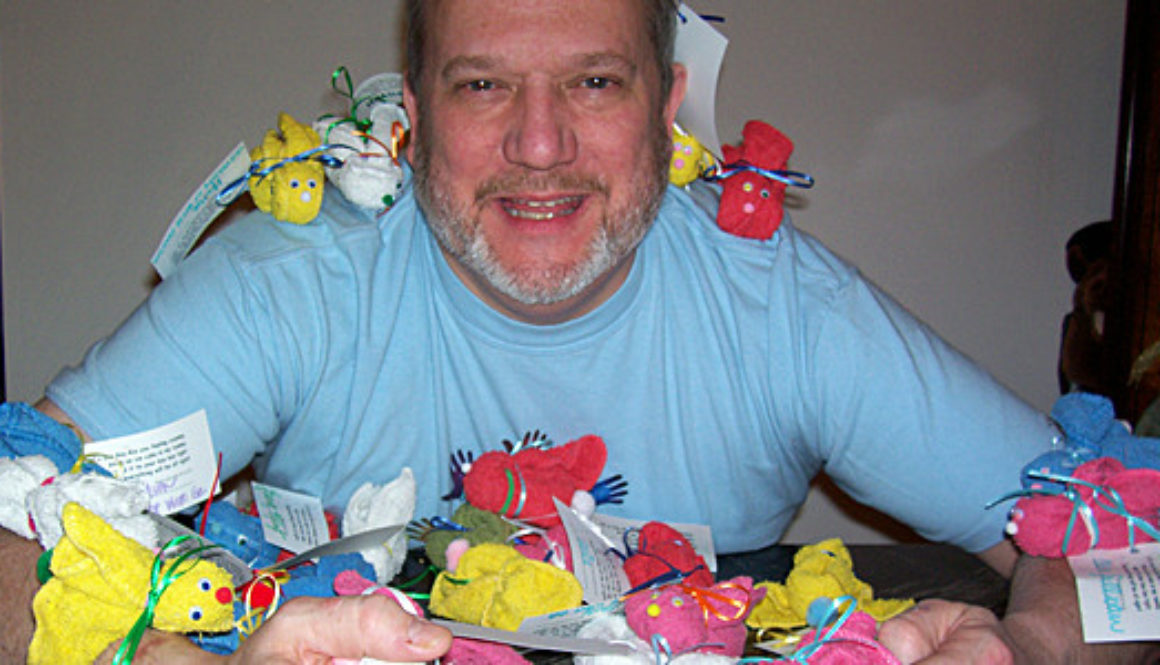 Dave Kelly with Boo-Boo Bunnies