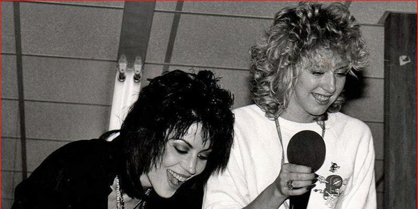Dayna Steele and Joan Jett