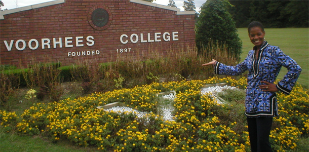 Felicia Harlow at Voorhees College